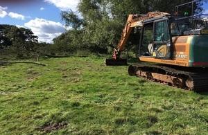 Natural flood management work begins