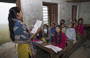 Girls in a classroom in Nepal