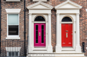 Two coloured doors