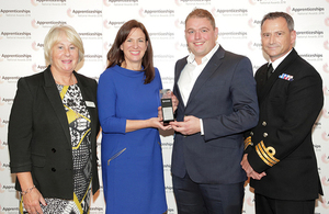 Amy Carrillo and Matt Page received the award on behalf of the UKHO