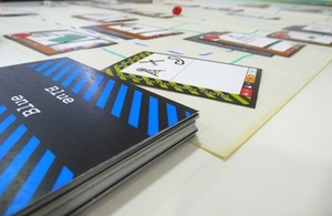 A close-up of the cyber cards
