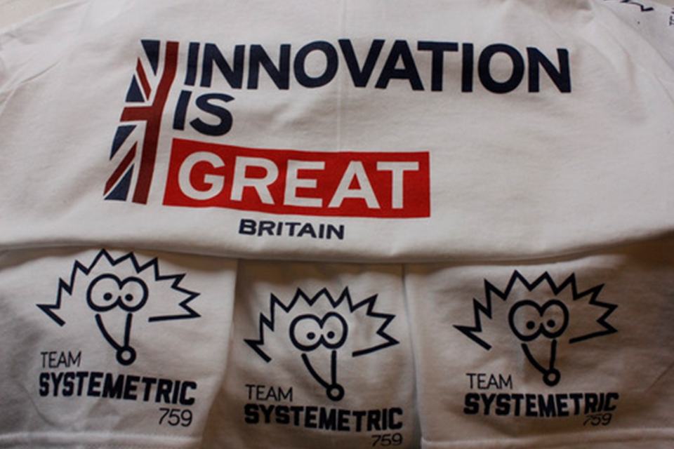 Innovation is GREAT Britain t-shirts with the team logo