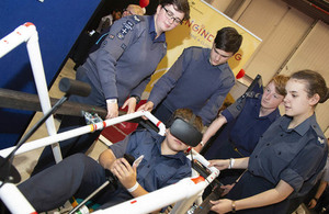 RAF Engineering Competition Youth Team winners