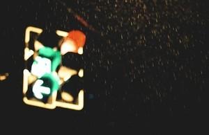 Traffic lights in the night