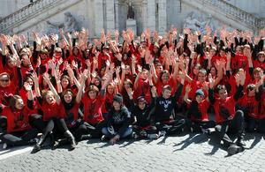 Flash mob at the Campidoglio in Rome