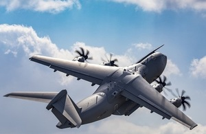 Stock image of an A400M Atlas, such as the one which will travel to Indonesia.
