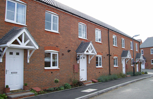 Photo of newly built houses