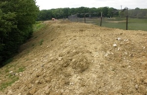The waste used to build bunds.