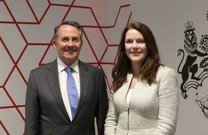 Picture of International Trade Secretary Dr Liam Fox and HM Trade Commissioner for Asia Pacific Natalie Black