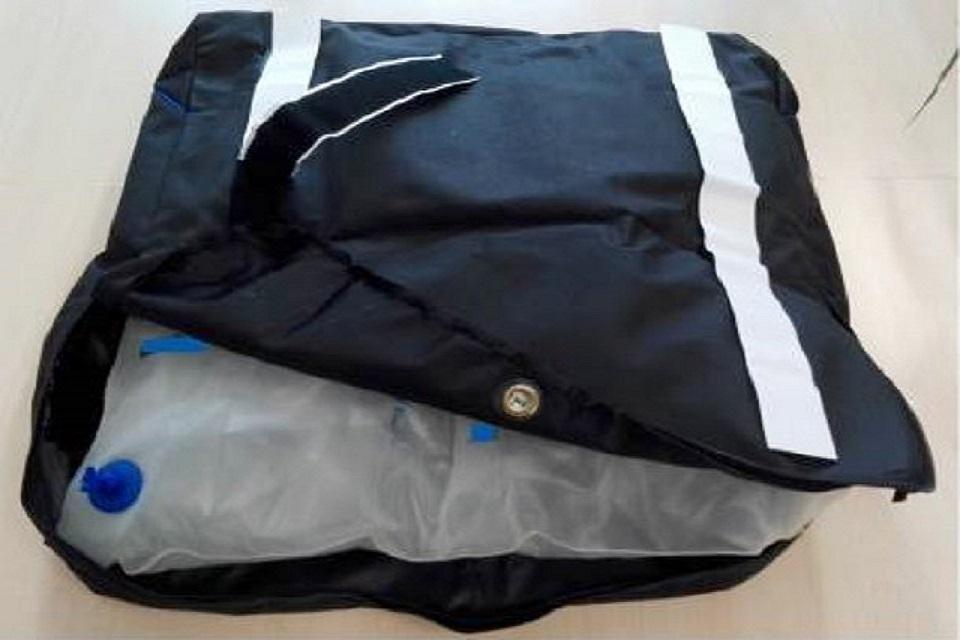 Wheelchair cushion inside anti-slip cover