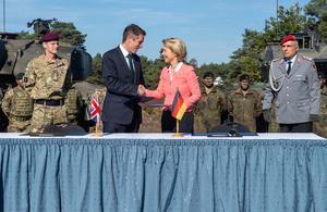 Defence Secretary Gavin Williamson and Ursula von der Leyen