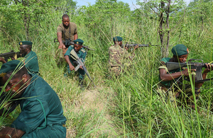 Liwonde Rangers being trained to help disrupt poaching