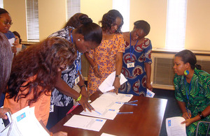 British High Commission staff sign a petition calling for the end of violence against women and girls