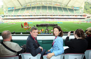 Welsh Secretary with the Consul General at the HK Rugby Sevens