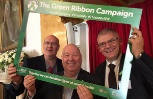 Mayor of Liverpool Joe Anderson, and Sellafield Ltd's Alan Rankin and Alex Walsh at the This is Me event in Liverpool