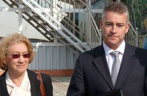 Baroness Stern and HM Ambassador Robin Ord-Smith