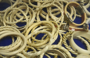 Ivory rings seized at Heathrow Airport by Border Force