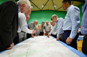 Members of the public at a HS2 event.