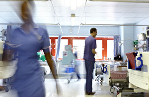 NHS staff working on ward