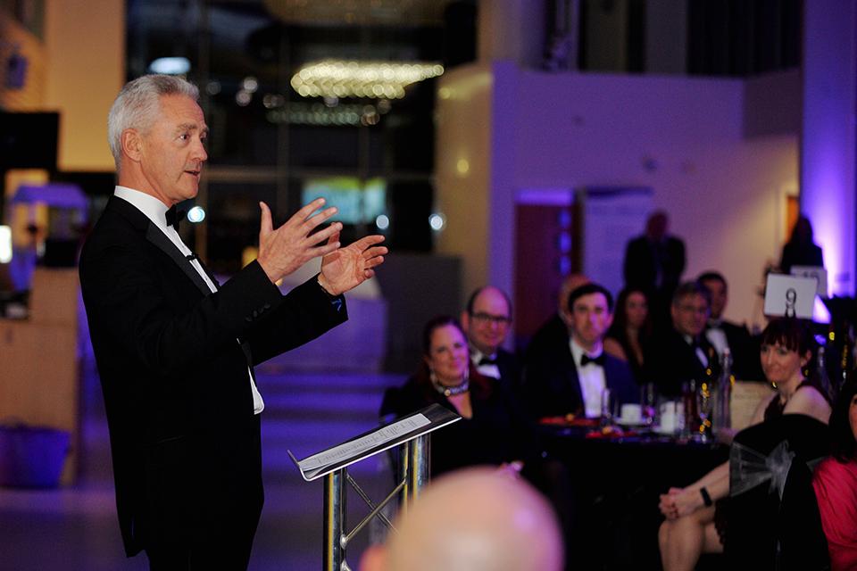 NDA CEO David Peattie addresses guests