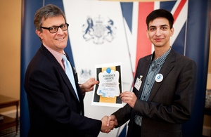 English Speaking Union Belarus Public Speaking Competition winner