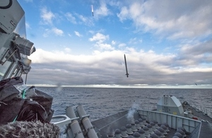 Pictured is a Sea Ceptor launch from HMS Argyll.