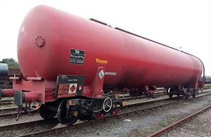 The wagon involved, following the incident (image courtesy of DB Cargo)