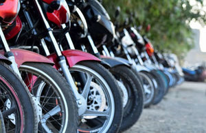 Row of parked mopeds