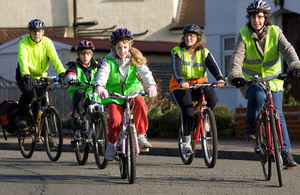 Picture of children on bikes.