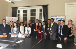 Minister Mark Field with students and young professionals at ASEF Young Leaders' Summit.