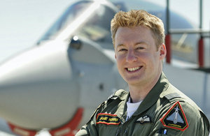 Typhoon Pilot Jamie Norris (Crown Copyright/MoD)