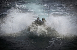 Members of HMS Montrose's boarding party taking part in Exercise Joint Warrior