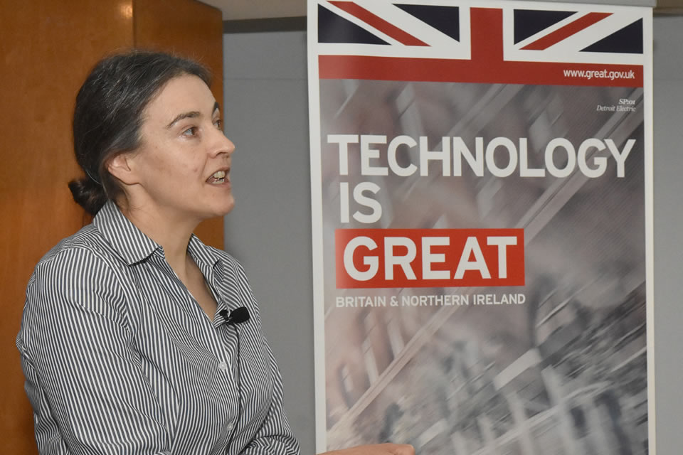 Dr. Clare Grey, Professor and Researcher, Department of Chemistry, University of Cambridge / Member of the Faraday Institution, presented at the workshop.