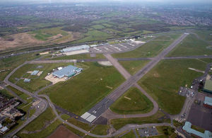 RAF Northolt from the air. Photo: Crown Copyright/MOD2016.
