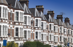 Row of victorian properties in London