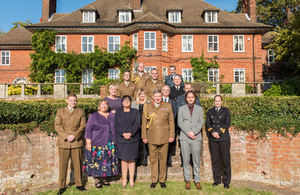 General Sir Chris Deverell, Commander JFC and awards winners. MOD Crown Copyright