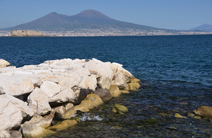 View of the Naples gulf