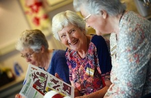 Residents at ExtraCare talk together