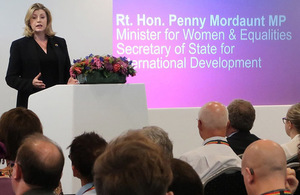 Secretary of State Penny Mordaunt at the launch of the LGBT Action Plan