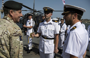 Sir General Nick Carter in discussion with other Gulf Chiefs of Defence