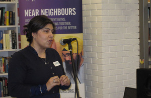 Baroness Warsi visits a Near Neighbours project
