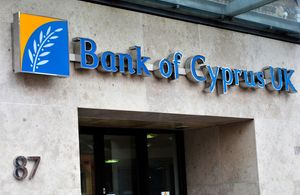 A branch of the Bank of Cyprus in London