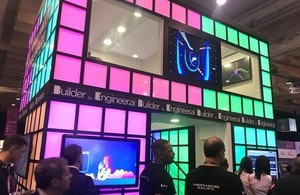 Engineer.ai's stand at the Web Summit in Lisbon