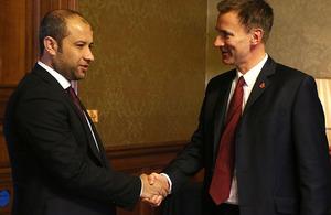 Jeremy Hunt meeting White Helmets
