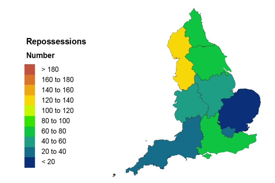 Repossession heat map