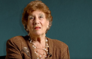 Photo of Inge Gershfield from the video of British Holocaust survivors recalling their memories of Kristallnacht