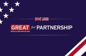 Infographic showing UK and USA collaboration