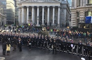 Liam Fox attended to Lord Mayor's Show on Saturday (10 November)