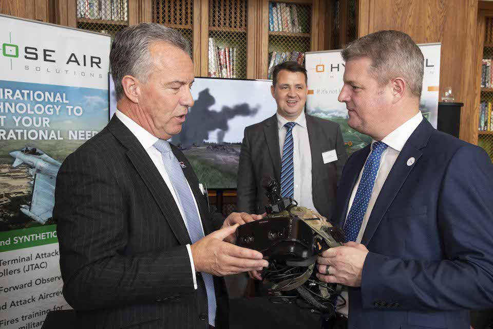 Defence Minister Stuart Andrew meets winners of the Innovation Challenge. Crown copyright