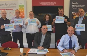 LLWR's Lead Team members sign anti-bullying Pledge Cards